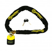 MOTORCYCLE ANTITHEFT- CHAIN LOCK AUVRAY K-BLOCK 1.20M LINK Ø 10mm WITH SAFETY LOCK 100 x 110