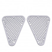 GRILLE FOR REAR FAIRING REPLAY DESIGN FOR MBK 50 BOOSTER 2004>/YAMAHA 50 BWS 2004> WHITE (PAIR)
