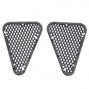 GRILLE FOR REAR FAIRING REPLAY DESIGN FOR MBK 50 BOOSTER 2004>/YAMAHA 50 BWS 2004> BLACK (PAIR)