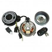 ALLUMAGE CYCLO ADAPTABLE PEUGEOT 103 ELECTRONIQUE 12V GROS CONE (AVEC BOBINE ET CDI) -P2R-