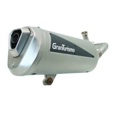 EXHAUST FOR MAXISCOOTER LEOVINCE GRANTURISMO TITANIUM FOR PIAGGIO 500 MP3 2011>, 400 MP3 2007>/GILERA 500 FUOCO 2007> (REF 3496) (CEE APPROVED)