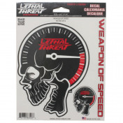 AUTOCOLLANT/STICKER LETHAL THREAT WEAPONS OF SPEED (15x20cm) (LT88508)