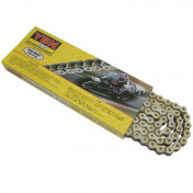 CHAIN FOR MOTORBIKE ON ROAD YBN 420 REINFORCED-WHITE- 134 LINKS