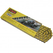 CHAIN FOR MOTORBIKE ON ROAD YBN 420 REINFORCED -YELLOW- 134 LINKS