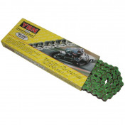 CHAIN FOR MOTORBIKE ON ROAD YBN 420 REINFORCED - GREEN -134 LINKS