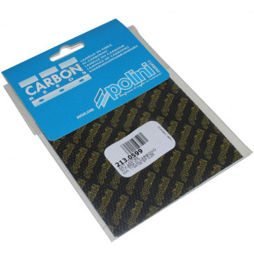 REED FOR REED VALVE POLINI CARBON 0,25 SHEET 110X100 (x2) (213.0599)
