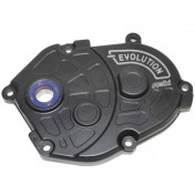 TRANSMISSION COVER ( POLINI EVO) FOR MBK 50 BOOSTER/ STUNT/ NITRO/YAMAHA 50 BWS/ SLIDER/ AEROX BLACK (170.0301)