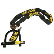 MOTORCYCLE ANTITHEFT- CHAIN LOCK AUVRAY UFORCE10 1.40M LINK Ø 13,5mm WITH U-LOCK 120 x 120 (SRA APPROVED)