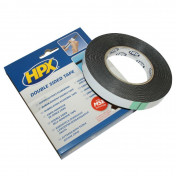 ADHESIVE TAPE - DOUBLE FACE FOAMED - BLACK 19mm x 10M