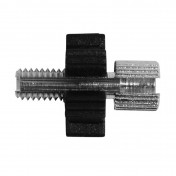 CABLE ADJUSTMENT SCREW FOR MOPED M6 L18mm - HEAD 7x9 (WHITH PLASTIC SETTING WHEEL) -DOMINO-