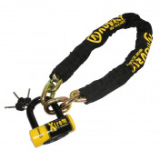 MOTORCYCLE ANTITHEFT- CHAIN LOCK AUVRAY XTREM 1.00M LINK Ø 13,5mm WITH U-LOCK (SRA APPROVED)