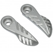 FOOTREST FOR SCOOT MBK 50 BOOSTER 2004>/YAMAHA 50 BWS 2004> ALUMINIUM SILVER (PAIR)