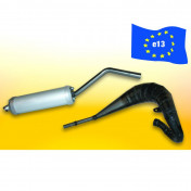 EXHAUST FOR 50CC MOTORBIKE MALOSSI MHR REPLICA FOR BETA 50 RR (TOP MOUNTING LEFT) (HOMOLOGUE CE)