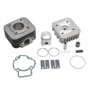 COMPLETE CYLINDER KIT FOR SCOOT MALOSSI CAST IRON FOR PIAGGIO 50 ZIP 2STROKE, TYPHOON, LIBERTY 2STROKE/GILERA 50 STALKER, ICE/APRILIA 50 SR AIR COOLED