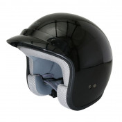 HELMET-OPEN FACE ADX CLASSIC GLOSSY BLACK XS