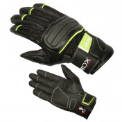 GLOVES ADX - MID SEASON ROCKET BLACK/GREEN T 6 (XXS) (POLYESTER MESH + LEATHER + RUBBER)