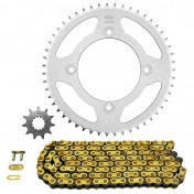 CHAIN AND SPROCKET KIT FOR BETA 50 RR 2012>2013 (4 DRILL HOLES) 420 11x50 (BORE Ø 100mm) (OEM SPECIFICATION) -AFAM-