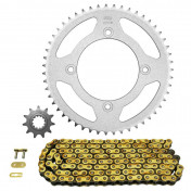 CHAIN AND SPROCKET KIT FOR BETA 50 RR 2006>2011 (4 DRILL HOLES) 420 11x51 (BORE Ø 100mm) (OEM SPECIFICATION) -AFAM-