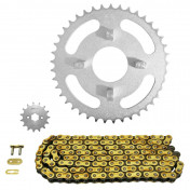 CHAIN AND SPROCKET KIT FOR HONDA 50 DAX 1982> 420 15x41 (BORE Ø 50mm) (OEM SPECIFICATION) -AFAM-