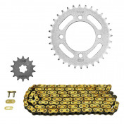 CHAIN AND SPROCKET KIT FOR YAMAHA 50 CHAPPY 1988>1994 420 14x32 (BORE Ø 64mm) (OEM SPECIFICATION) -AFAM-