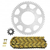 CHAIN AND SPROCKET KIT FOR MBK 50 X-LIMIT 2007>2012/YAMAHA 50 DTR 2007>2012 420 11x62 (BORE Ø 105mm) (OEM SPECIFICATION) -AFAM-