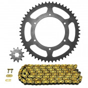 CHAIN AND SPROCKET KIT FOR DERBI 50 GPR RACING 2004>2005, 50 GPR 2004>2005 420 12x53 (BORE Ø 108mm) (OEM SPECIFICATION) -AFAM-