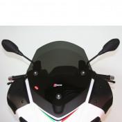 WINDSHIELD FOR MAXISCOOTER APRILIA 125 SR MAX 2012>, 300 SR MAX 2012> (SHORT-DARK SMOKED) (H 455mm - L 430mm) -FACO-