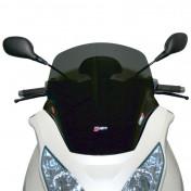 BULLE/SAUTE VENT MAXISCOOTER POUR PIAGGIO 250 MP3 ie 2007>, 400 MP3 ie 2007> FUME FONCE (H 510mm - L 520mm) -FACO-