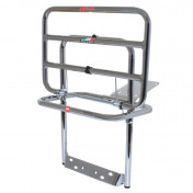 LUGGAGE RACK (REAR) FOR MAXISCOOTER PIAGGIO 125 VESPA PX CHROME FOLDING -FACO-