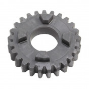 GEARBOX SPROCKET FOR MINARELLI 50 AM6/MBK 50 X-POWER/YAMAHA 50 TZR/PEUGEOT 50 XPS/RIEJU 50 RS1/APRILIA 50 RS (25TEETH- PRIMARY SHAFT- 6TH GEAR - SERIE 1) -TOP PERF AS ORIGINAL-