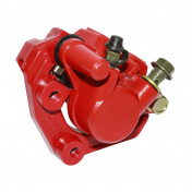 BRAKE CALIPER (FRONT) FOR BAOTIAN 50 BT49QT, BT50QT -RED- (SUPPLIED WITH PADS)