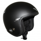 HELMET-OPEN FACE ADX LEGEND MAGIC RIDER MATT BLACK XS