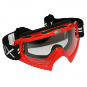 MOTOCROSS GOGGLES ADX MX RED CLEAR VISOR ANTI-SCRATCH