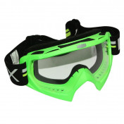 MOTOCROSS GOGGLES ADX MX GREEN FLUO CLEAR VISOR ANTI-SCRATCH
