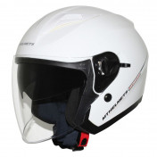 HELMET-OPEN FACE MT BOULEVARD SV DOUBLE VISORS - SOLID GLOSSY WHITE XS