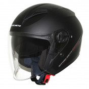 HELMET-OPEN FACE MT BOULEVARD SV DOUBLE VISORS MATT BLACK XS