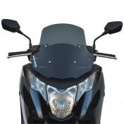 WINDSHIELD FOR MAXISCOOTER HONDA 700 INTEGRA 2012>, 750 INTEGRA 2014> (SHORT-DARK SMOKED) -MALOSSI-