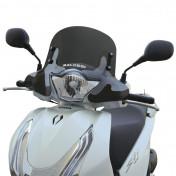 BULLE/SAUTE VENT MAXISCOOTER POUR HONDA 125 SHi ABS 2013> (FUME FONCE) -MALOSSI-