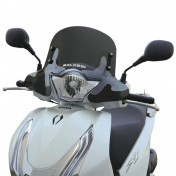 WINDSHIELD FOR MAXISCOOTER HONDA 125 SHi ABS 2013> (SHORT-DARK SMOKED) -MALOSSI-