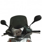 WINDSHIELD FOR MAXISCOOTER HONDA 300 SH 2007>2010 (SHORT-DARK SMOKED) -MALOSSI-