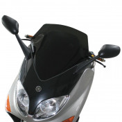 BULLE/SAUTE VENT MAXISCOOTER POUR YAMAHA 500 TMAX 2001>2007 (FUME FONCE) (H505mm - L465mm) -MALOSSI-