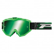 MOTOCROSS GOGGLES PROGRIP 3204 SHINY FLUO GREEN -MULTILAYERED GREEN LENS- NO FOG/U.V. PROTECTION/ANTI-SCRATCH