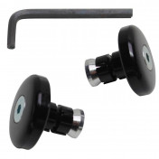 BAR ENDS VICMA - FLUSH FIT - BLACK (Ø 14mm) (PAIR)