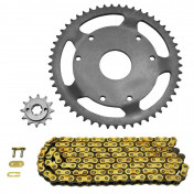 CHAIN AND SPROCKET KIT FOR DERBI 50 SENDA 1997>1999 420 12x53 (BORE Ø 53mm + OFFSET) (OEM SPECIFICATION) -AFAM-