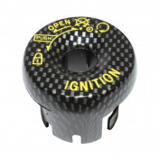 IGNITION LOCK COVER (REPLAY) FOR NITRO/AEROX/BOOSTER/BW'S 2004>- CARBON