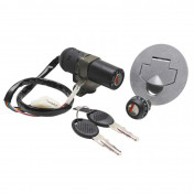 IGNITION SWITCH FOR 50cc MOTORBIKE APRILIA RS50 <1998 (WITH SEAT LOCK + FUEL CAP) -SELECTION P2R-