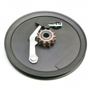 HEAD PULLEY FOR MOPED MBK 51, 41, 88, CLUB-REINFORCED STEEL WITH 11 TEETH REMOVABLE SPROCKET ( INA SLEEVE)