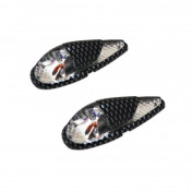 """DECORATIVE LIGHTNING REPLAY """"WATER DROP"""" FENDER TRANSPARENT/CARBON WITH ORANGE BULB (L 62mm / H 23mm / W 18mm)(PAIR) **"""