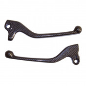 BRAKE LEVER (PAIR) FOR SCOOT REPLAY FOR MBK 50 BOOSTER 2004>, STUNT/YAMAHA 50 BWS 2004>, SLIDER - CARBON GLOSS