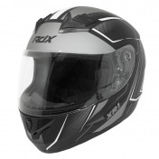HELMET-FULL FACE ADX XR1 SHADOWS MATT BLACK/WHITE - M